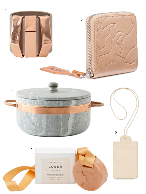 Soft Nude and Copper mood - via Coco Lapine blog