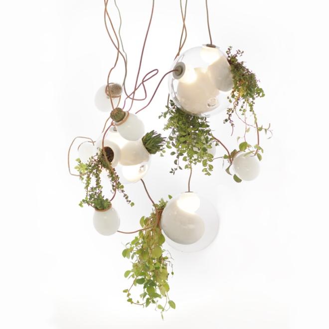 Lamp planter - Omer Arbel