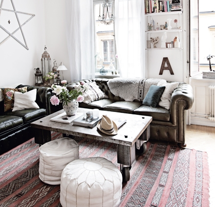Bohemian styled apartment