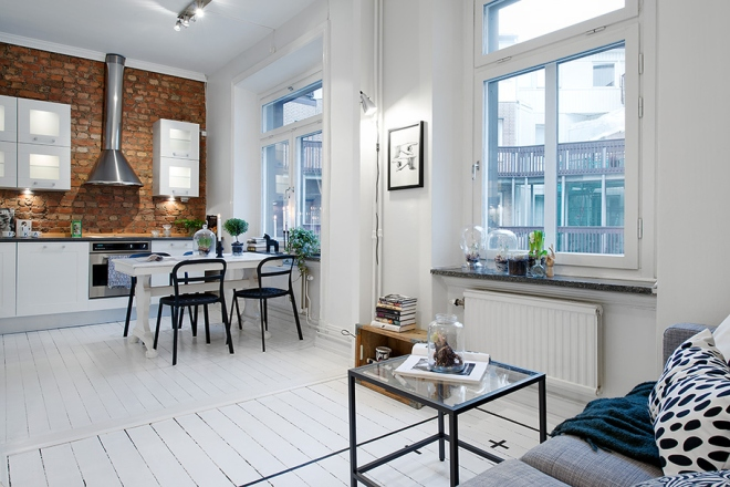 Lovely shared kitchen and living room
