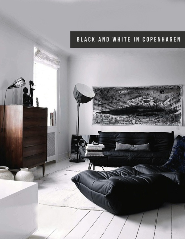Black and white home - via Coco Lapine