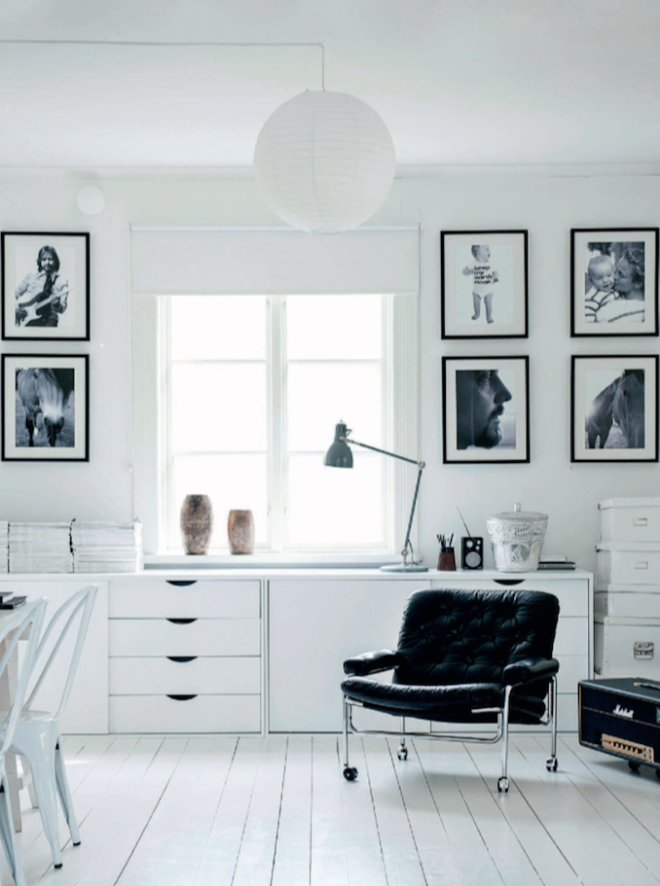 Monochromatic home - via Coco Lapine