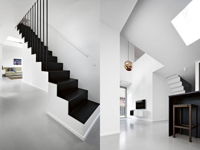 Black, white and a touch of copper - via Coco Lapine