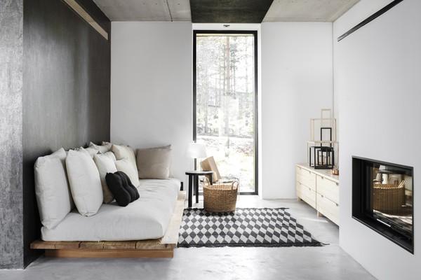 Concrete floors and big windows - via Coco Lapine