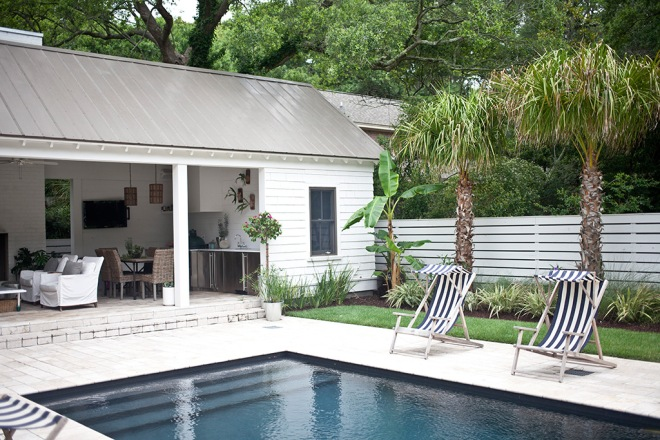 By the pool, renovated bungalow - via Coco Lapine