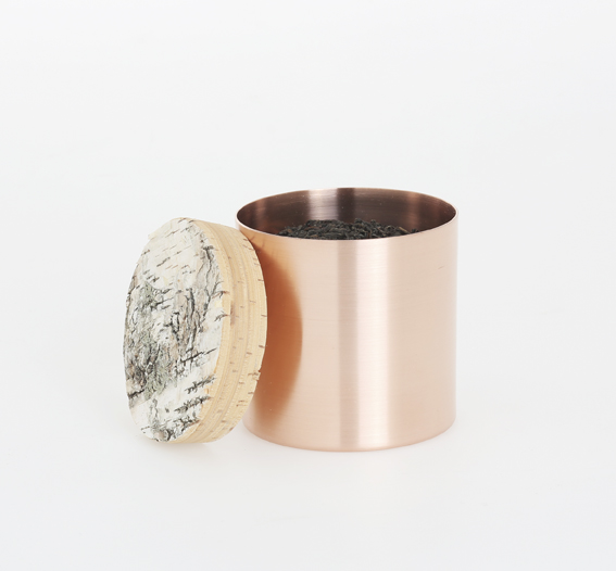 Metal and Birch containers - via Coco Lapine