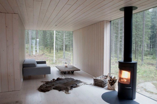 Minimal Finnish forest home - via Coco Lapine
