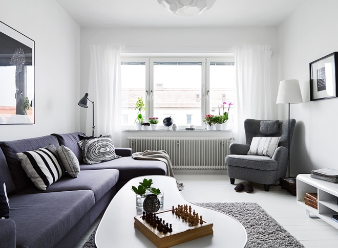 White, gray and black in Göteborg - via Coco Lapine
