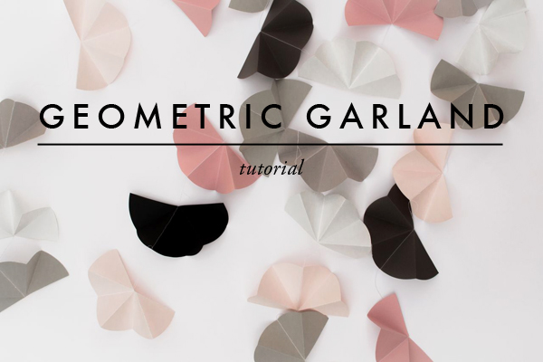 DIY geometric garland - via Coco Lapine