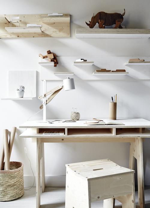 Plywood Workspace - via Coco Lapine