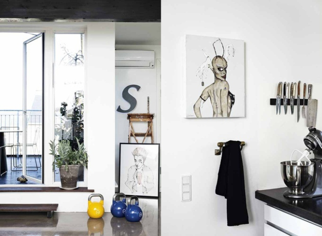Artist home - via Coco Lapine