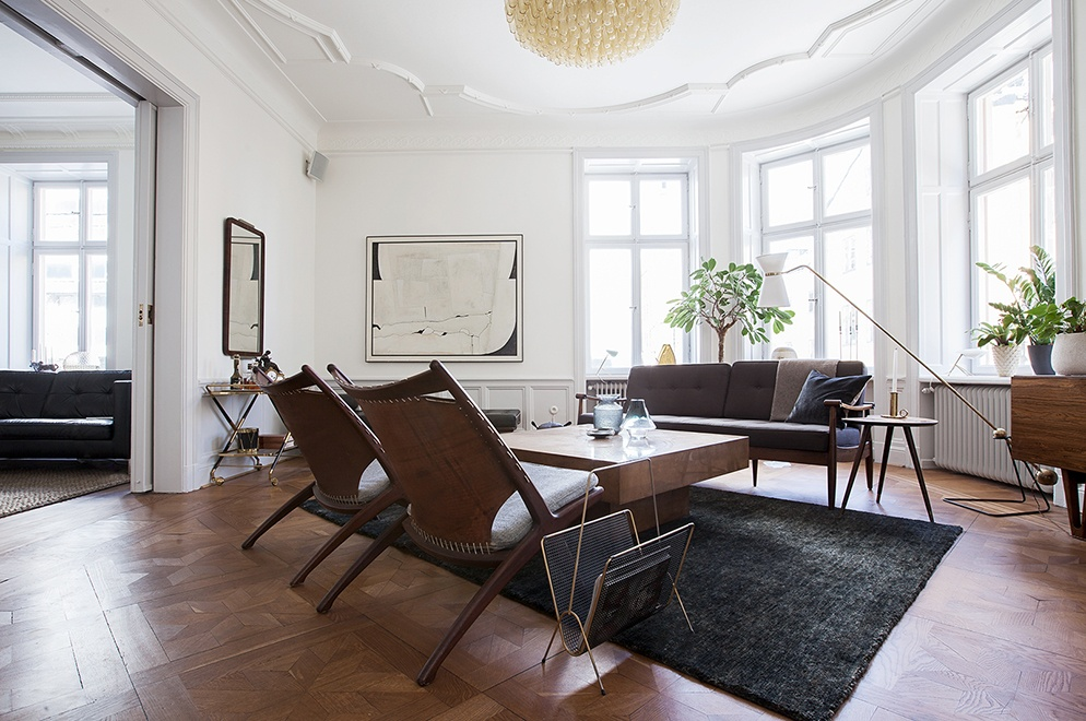 Mid-century modern home in Stockholm