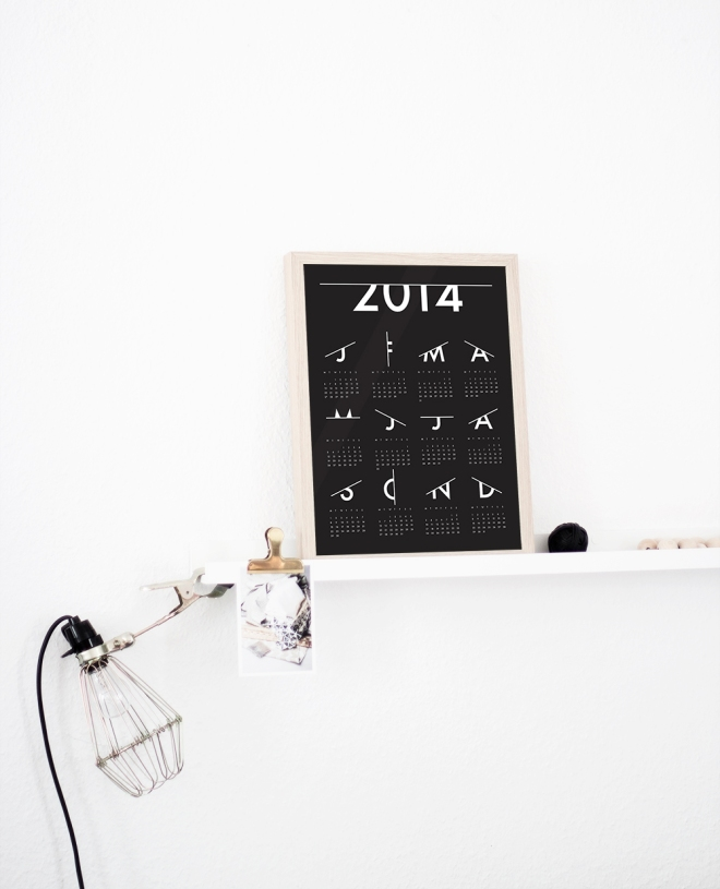 'Scratched' Calendar 2014 now available in the Coco Lapine Design shop